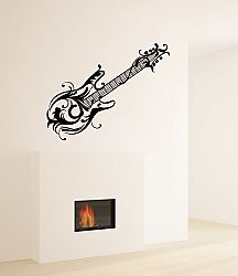 Our Floral Guitar Wall Decal is rocking for any music lover or guitarist--rocker, grunge or blues. Music Wall Decor, Music Wall Art, Man Cave Wall Decals, Rock A Bye Baby, Guitar Wall, Party Rock, Vinyl Wall Stickers, Rock N Roll, Floral
