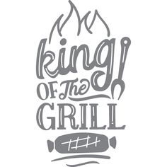 """King Of The Grill Vinyl Graphic Decal Decals Measure To The: Longest """"Width"""" or """"Height"""" DIY project --- Apply this vinyl graphic decal to any flat, dry surface to create a custom project. This listing is ONLY the decal in your choice of color and size. Application instructions are sent with every order. If you are applying to a plastic surface, send us a message so that we can finish the decal in the correct transfer tape for plastic surfaces. We recommend measuring your application surface…"""