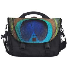 Personalized Detailed Peacock Feather Shoulder Business Bag For Laptop