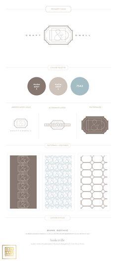 Branding Design for Craft & Dwell |  www.EmilyMcCarthy.com | Luxury Branding, Logo, Construction/Builder Branding Design