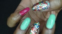 1 ~*Unicorn Farts*~ Nails for 2 Days by NueNew the Hair Diva