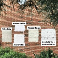 Looking for limewash exterior painting? Austin Natural Painting Company specializes in eco painting, interior painting, exterior painting and limewash. Home Exterior Makeover, Exterior Remodel, Exterior Paint Colors, Exterior House Colors, Painted Brick Exteriors, Painted White Brick House, Paint Brick, Painted Brick Homes, How To Paint A Brick House