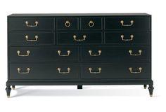 Metro Classics Dresser, Black/Gold