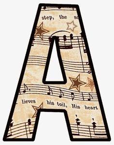 Eu Amo Artesanato: Alfabeto de notas musicais                                                                                                                                                                                 Mais