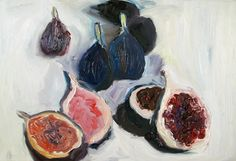 "Saatchi Online Artist: Giulia Bianchi; Oil Painting ""Figs reunion"""