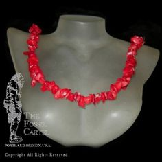 Coral Chip Necklace