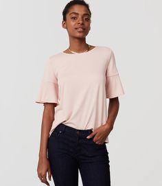 Primary Image of Ruffle Cuff Top