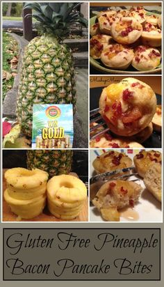 Pineapple Bacon Pancake Bites Recipe -- and enter Del Monte's Gold for Gold Treasure Hunt Fall 2014.