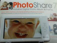 New Portable Digital Photo Album & Frame PHOTOSHARE 7 - PC and MAC Compatible in Digital Photo Frames   eBay