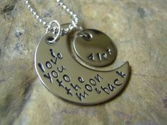 I Love You To The Moon And Back Necklace Guess by KottageKreations, $28.00