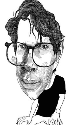 Jonathan Franzen- Modern American Author and Essayist Caricatures, Satire, Marilynne Robinson, Jonathan Franzen, Zadie Smith, Book Authors, Books, Essayist, Character Drawing