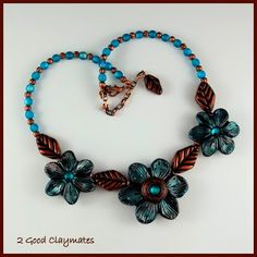 2 Good Claymates: Vintage Inspired Flower Necklace