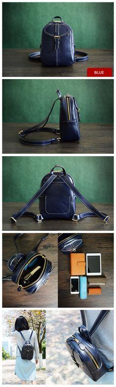 Custom Handmade Vegetable Tanned Leather Backpack, Shoulder Bag, Satchel Bag