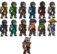 Mortal Kombat Sprites by BLZofOZZ.deviantart.com on @deviantART