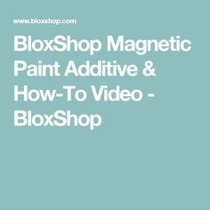 Learn How To Apply BloxShop Magnetic Paint Additive to Create Your Magnetic Art Wall. Magnetic Paint, Budget Sheets, Home Management, Cleaning Hacks, Magnets, Create Yourself, How To Apply, Videos, Painting
