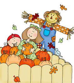 Free Dearie Dolls Digi Stamps: Pumpkin Patch