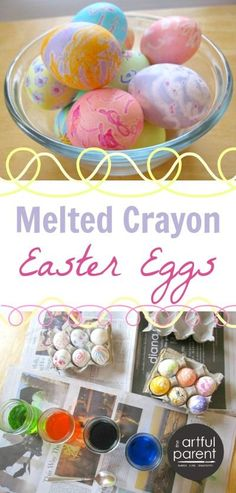 Melted crayon Easter