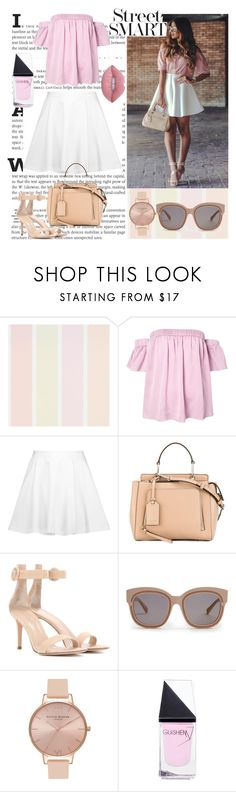 """""""STREET SMART"""" by wolf-girl97 ❤ liked on Polyvore featuring Milly, Alice + Olivia, Donna Karan, Gianvito Rossi, STELLA McCARTNEY, Olivia Burton, GUiSHEM and Lime Crime"""