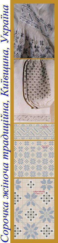 Вишивка жіночої сорочки з Київщини (експонат Музею Івана Гончара), Україна