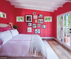 Amber Valletta's Santa Monica Abode - The Master Bedroom from #InStyle