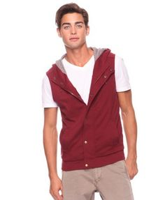 Cute vest for the husband! Maybe with a striped thermal