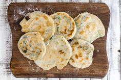 Chinesische Frühlingszwiebel-Pancakes - eat this! Das vegane Rezepte-Blog