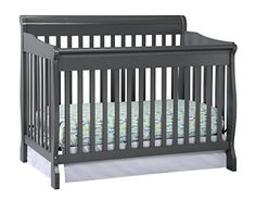Stork Craft Modena Convertible Crib, Gray