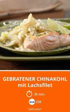 Gebratener Chinakohl - mit Lachsfilet - smarter - Kalorien: 238 Kcal - Zeit: 35 Min. | eatsmarter.de
