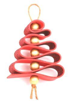 New christmas tree decorations ribbon navidad ideas Handmade Christmas Decorations, Christmas Ornament Crafts, Christmas Crafts For Kids, Xmas Crafts, Christmas Projects, Christmas Diy, Rustic Christmas, Felt Crafts, 242