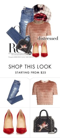 """the smiling portrait of you is still hanging on my frowning wall"" by perilousness-fashion on Polyvore featuring Raey, Christian Louboutin and STELLA McCARTNEY"
