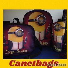 Para este inicio de año escolar disfruta de los diseños de @canetbags  Combo escolar personalizado de #minios  morral escolar mediano  lonchera termica y porta botella termico para más información al 0412-8564698 #morralescolar #loncheratermica #morral #escuela #niño #niña #combo  #cartuchera #moda #accesorios #emprendefores #branding #portabotellas #coser #ventas #publiciudadmcy #publicidad #hechoamano #venezuela #Canetbags
