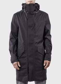 ISAORA | 3L Tech UX Parka Shell (Black):