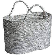 Pier 1 Imports Aster Silver Foil Basket (110 SAR) ❤ liked on Polyvore featuring home, home decor, small item storage, colored baskets, oversized tote, pier 1 imports, hand woven basket and star home decor
