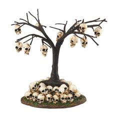 Amazon.com: Department 56 Halloween Village Skull Tree 6.3 In: Home & Kitchen