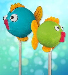 kostenlose anleitung dekostecker fische - The world's most private search engine Diy For Kids, Crafts For Kids, Arts And Crafts, Ocean Animal Crafts, Paper Fish, Mosaic Birds, Fish Wall Art, Paper Mache Crafts, Art N Craft