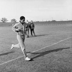 """É Bela Guttman que está lá trás? Esta imagem traz à memória aquela história do primeiro treino em que Guttman terá exclamado para Fernando Caiado """"é ouro, é ouro!""""."""