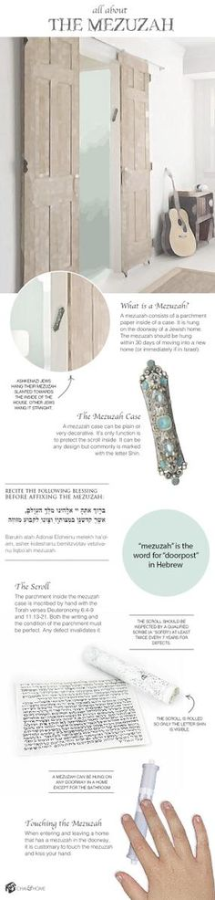 All About The Mezuzah: Infographic Chai & Home Adonai Elohim, Cultura Judaica, Messianic Judaism, Hebrew School, Learn Hebrew, Jewish History, World Religions, Holy Land, Infographic