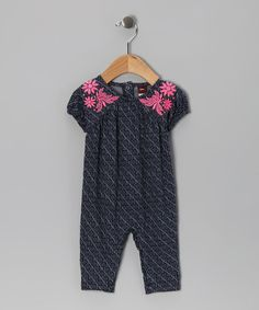 Take a look at this Indigo Jasmine Ikat Playsuit - Infant by Tea on #zulily today!