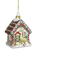 Found it at Wayfair - Gingerbread Kisses Glittered Glass House Decorative Christmas Ornament