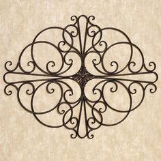 savino indoor outdoor wrought iron wall grille - Wrought Iron Wall Designs