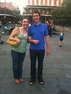 Sightseeing in Jackson Square after a long day of apartment-hunting in 2012.