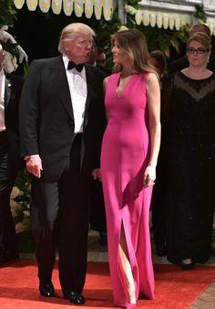 1st Lady,Melania Trump,with husband, President Trump.