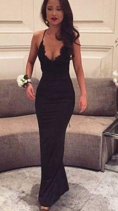 suknie wieczorowe 2017 - czarna