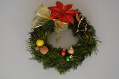 Festive wreath - my own composition inspired by gold and red colours