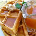 Pumpkin Waffles with Apple Cider Syrup Recipe--- Allrecipes.com