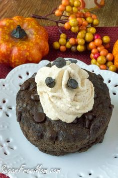 Sugar Free Low Carb Chocolate-Pumpkin-Mug-Cake- http://sugarfreemom.com