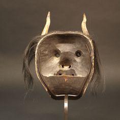 Japon, Masque Hannya, 19ème siècle. Masque Hannya, Japanese Mask, Masks, Lion Sculpture, Statue, Costumes, Art, Art Background, Dress Up Clothes