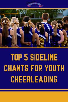 It's that time of year – when the pop warner and youth teams start taking to the field, sometimes for their first cheerleading season EVER! So coaches, we've got the TOP 5 youth cheerleading chants that are fun AND get the crowd fired up! Try these cheer moves with your youth cheerleading team today! Cheerleading Chants, Cheers And Chants, Cheer Moves, Basketball Cheers, Cheer Coaches, Pump It Up, Cheer Dance, Team Building Activities, Crowd