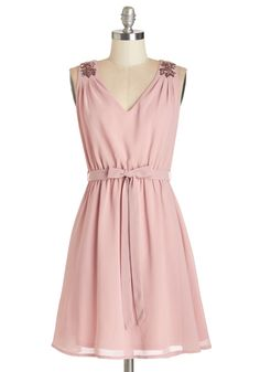 Sending My Love Dress. Show affection without saying a word by wearing this rose-colored dress on your next date! #pink #modcloth