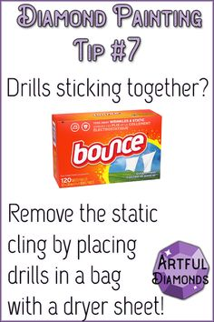 Drills are tiny and subject to static cling which you can get rid of by cutting small 1 inch squares of dryer sheets and placing them into your drill containers. Visit us for more info and the best diamond painting tips! Spring Crafts For Kids, Art For Kids, Kid Art, Paper Plate Crafts, Paper Plates, Painting Tips, Painting Art, Top Paintings, Static Cling